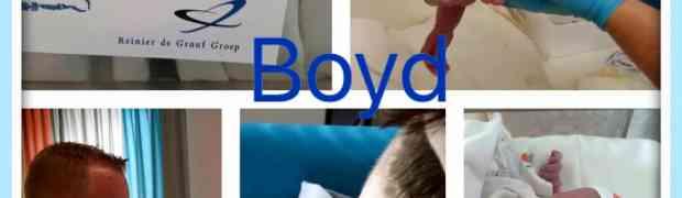 Hoera, Boyd is geboren!